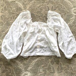 American Eagle Puff Sleeve Blouse